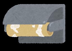 トイレットペーパーのイラスト(芯)