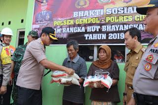 Sutiman Warga Kabupaten Cirebon  Bahagia Di Hari Bhayangkara Ke 73