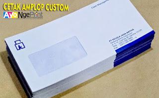 cetak amplop kop surat custom murah dan cepat di Kebon Jeruk, Jakarta Barat