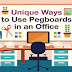 Unique ways to use pegboards in an office #infographic