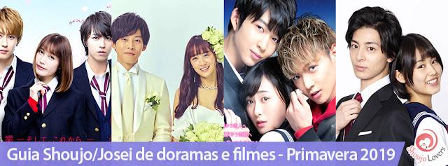 Guia Shoujo/Josei de doramas e filmes - Primavera 2019