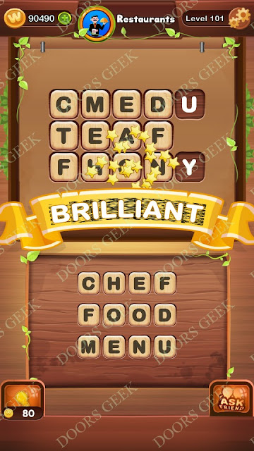 Word Bright Level 101 Answers, Cheats, Solutions, Walkthrough for android, iphone, ipad and ipod