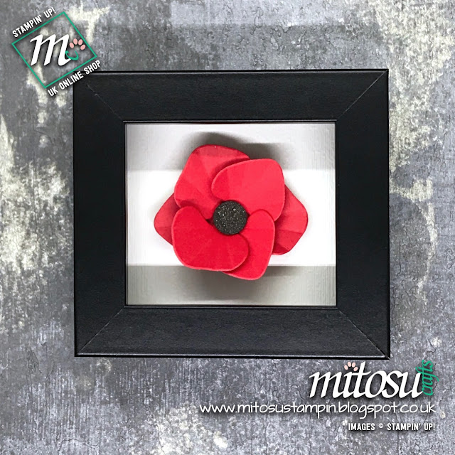 Stampin' Up! Poppy Flower using Orchid Builder. Order papercraft products from Mitosu Crafts UK Online Shop