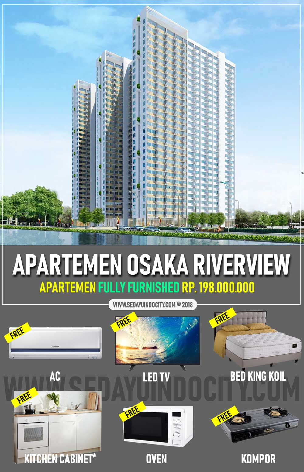 Tampilan Osaka Riverview