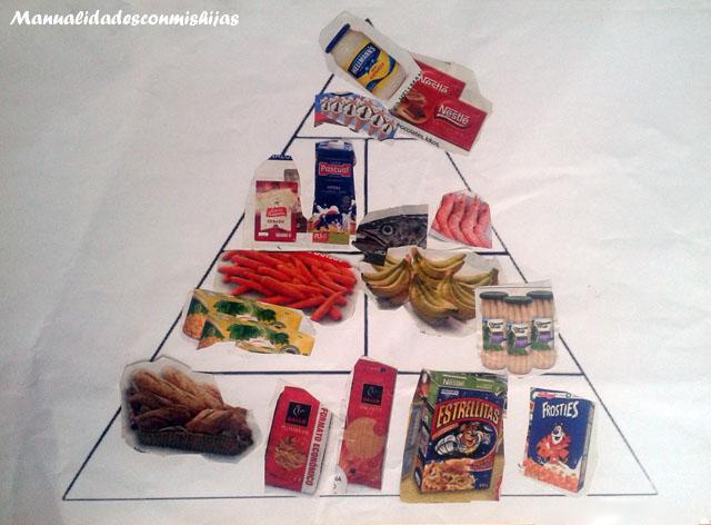 Pirámide recortar y pegar