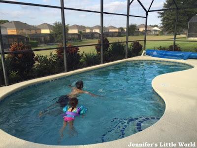 Private swimming pool at a villa in Orlando