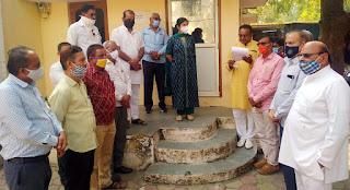 सिर्वी महासभा द्वारा अस्पताल की लापरवाही से हुई मरीज की मौत के खिलाफ कार्रवाई करने के लिए सौंपा ज्ञापन