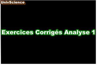 Exercices Corrigés Analyse 1.