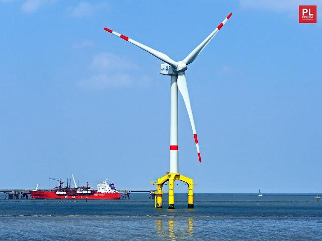 Energía eólica sobre el mar