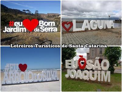 Letreiros Turísticos em Santa Catarina