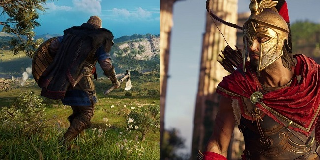 Comparison between Assassin's Creed Valhalla vs Odyssey