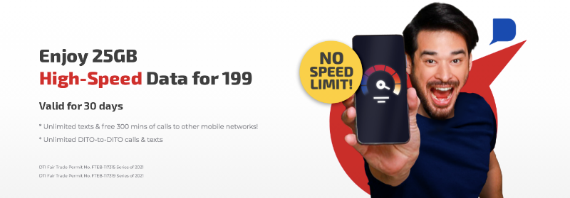 """DITO's unli """"WELCOME OFFER"""" ends, launches new promo: 25GB data for PHP 199"""