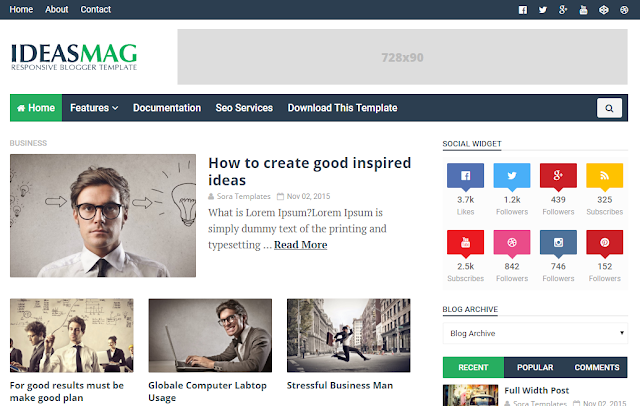 Ideas Mag Blogger Template - Free Blogger Templates