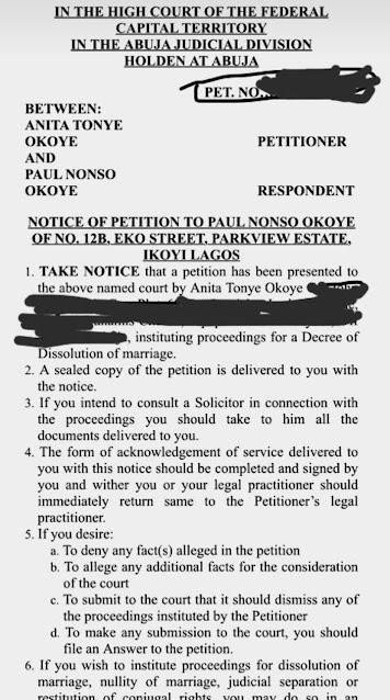 Paul Okoye's wife, Anita Okoye,files divorce after 7 years of marriage