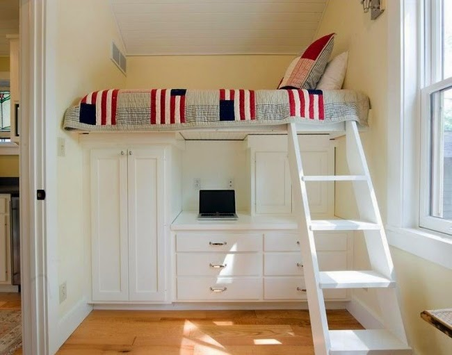 Small Kids Room Ideas, Loft Bed In The Kid Room