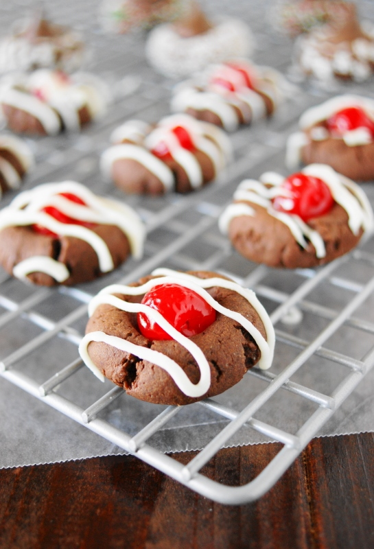 Cherry Chocolate Thumbprint Cookies Source Chocolate Dough Adapted From America S Test Kitchen