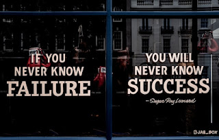 Failure Is the first step towards your success