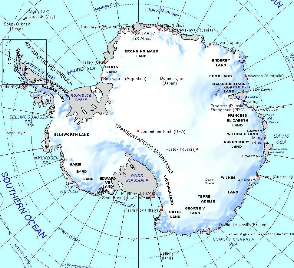 online maps  antarctic region map