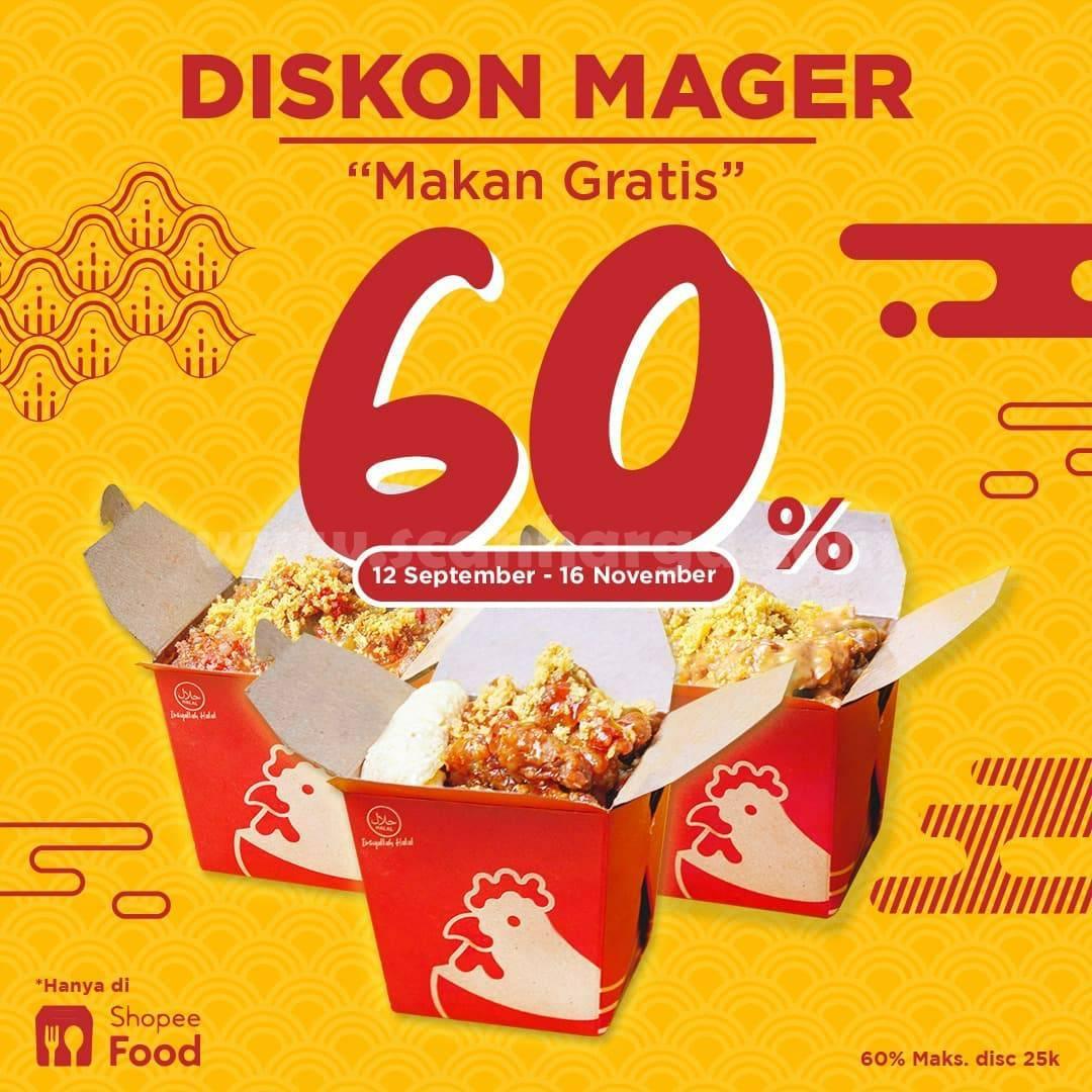 CHICKEN PAO Promo MAGER (Makan Gratis) Diskon 60% via ShopeeFood