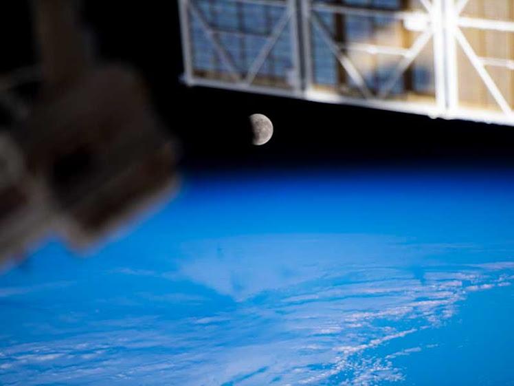 Um olhar único do eclipse lunar