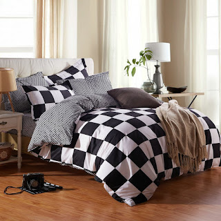 Black And White Checkered Comforters Bedding Sets