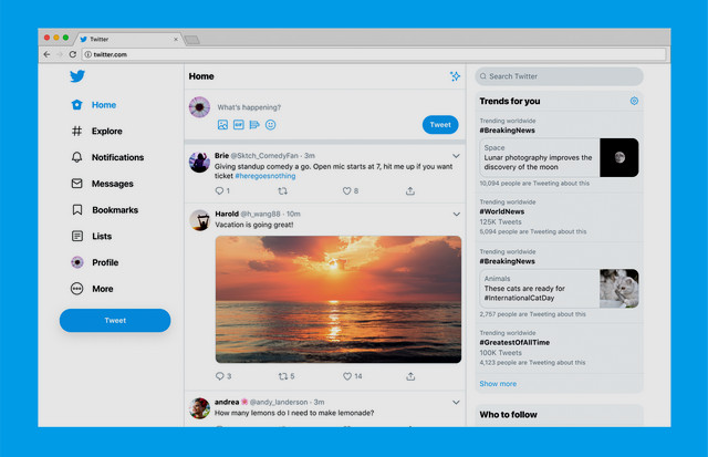 Twitter lance son nouveau site Web avec une navigation facile et plus de fonctionnalités