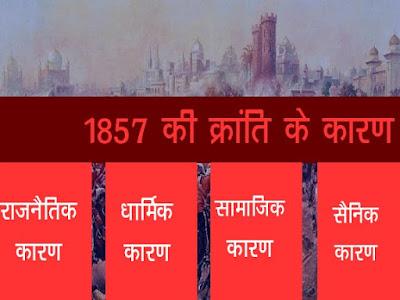 1857 के विद्रोह के कारण | 1857 की क्रांति के कारण
