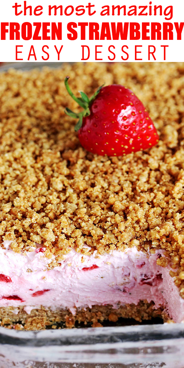 EASY FROZEN STRAWBERRY DESSERT #EASY #FROZEN #STRAWBERRY #DESSERT #EASYFROZEN #STRAWBERRYDESSERT #EASYFROZENSTRAWBERRYDESSERT