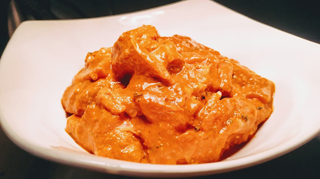 Marinated chicken pieces in Tandoori masala for chicken Tikka