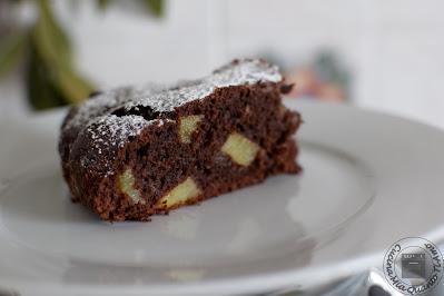 Torta cioccolato e pere senza lattosio