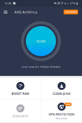 Scan Android phone using AVG Antivirus