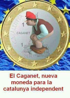 Caganet, moneda, Catalunya independent, caganer, Nadal