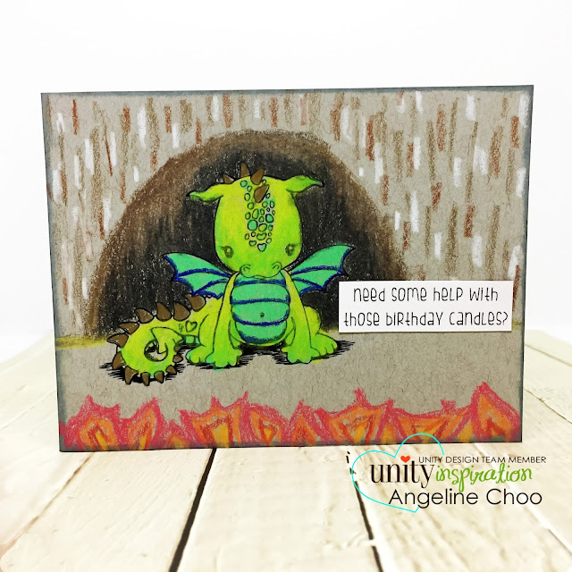 ScrappyScrappy: Cute Cuddlebugs with Unity Stamp - Cuddlebug Dragon #scrappyscrappy #unitystampco #cardmaking #card #craft #crafting #scrapbook #papercraft #stamp #stamping #youtube #quicktipvideo #video #prismacolor #strathmore #tonedgray #dragon #got #howtotrainyourdragon #birthdaycard #birthday