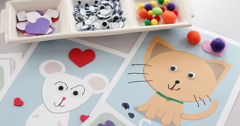 Make A Pet Art Activity With 6 Free Printable Templates Sunny Day