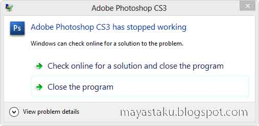 Photoshop CS3 error