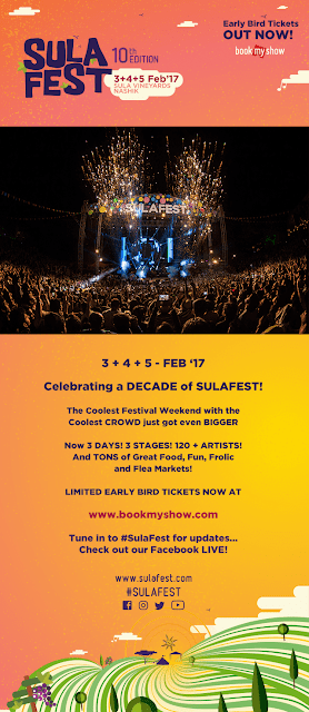 SulaFest 2017 out now - Early Bird Tickets for the 10th edition of mega music festival
