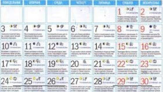 Подробный лунный календарь на август 2020 года