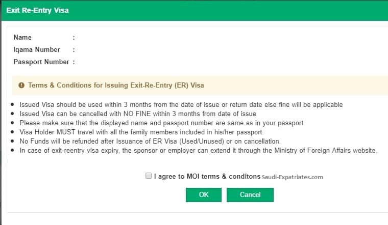 Exit Re Entry Visa Rules Conditions And Fee In Saudi Arabia