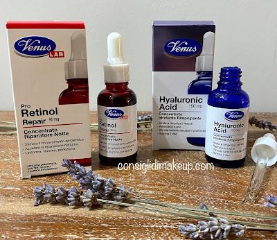 concentrati venus lab pro retinol e hyaluronic acid