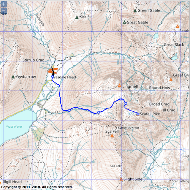 Scafell Pike Routes Map What are the best walking routes to Scafell Pike with maps?