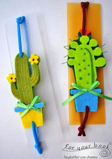 segnalibro elastico cactus
