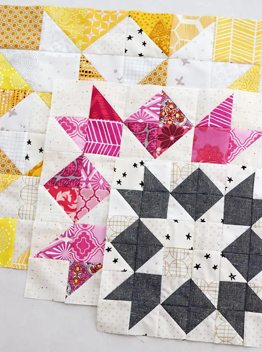 Star Quilt Block designed by Kirsty Cleverly of Bonjour Quilts