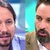 """Lección de tolerancia y respeto de Pablo Iglesias a  Abascal por el """"pin parental"""""""