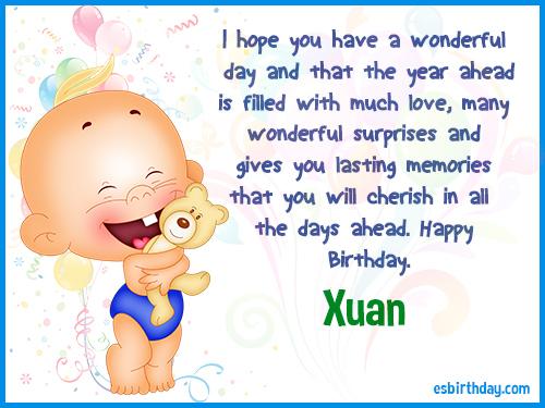 Xuan Happy Birthday