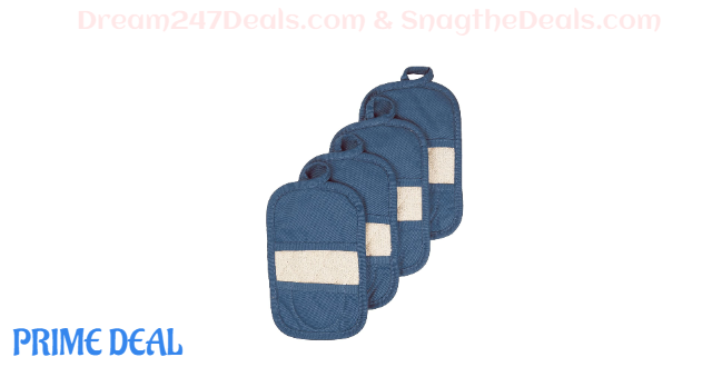 Royale Collection 100% Cotton Terry Cloth Mitz 4-Pack