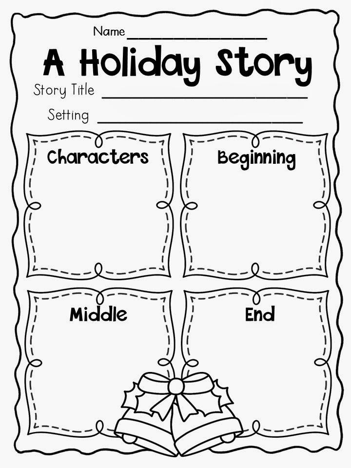 Primary Chalkboard: December Writing Freebies