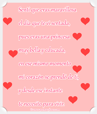 versos románticos