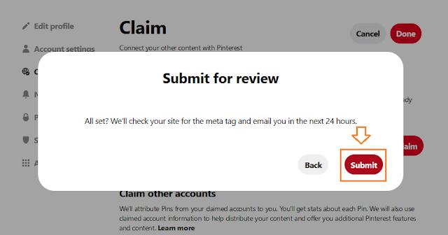 How To Claim Website On Pinterest   Blogger, WordPress, Wix, Bluehost, Hostgator, GoDaddy