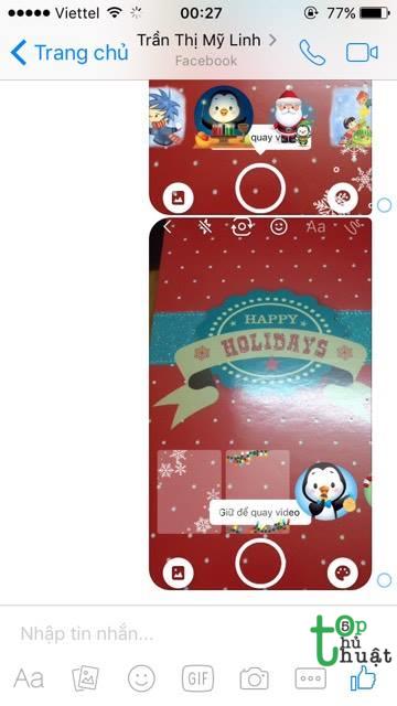 Hướng dẫn cách làm ảnh, thiệp giáng sinh gửi bạn bè trên Facebook Messenger 2017