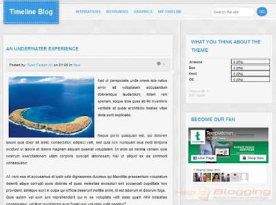 TimelineBlog Responsive For Business, Magazine, Photography blog Mixed color, Gray, White, Blue color Minimalist Seo Ready No Sidebar in homepage Post Thumbnails Fixed Width 2 Columns layout 3 Columns Footer Blogger Template Download